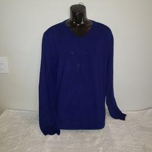 J.Crew Men's lightweight blue v-neck sweater